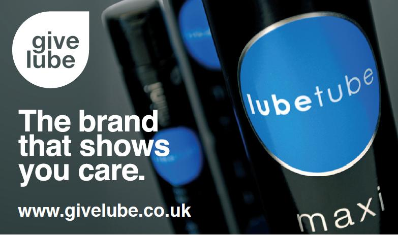 Give Lube - the lubricant brand that shows you care!