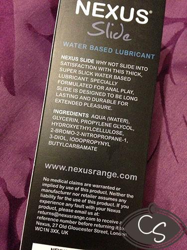 Nexus Slide Water Based Sex Lubricant