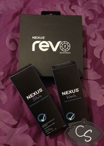 Nexus RevO 2 package, lube and sex toy cleaner