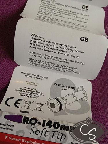 Rocks Off RO-140mm Soft Tip Bullet Vibrator