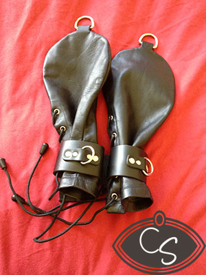 Kinklab Leather Bondage Mitts
