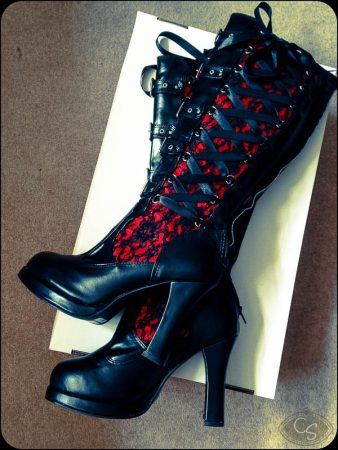 Demonia Crypto 106 Knee High Goth Boots review