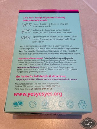 YES Organic Sexual Lubricants Selection Box Review