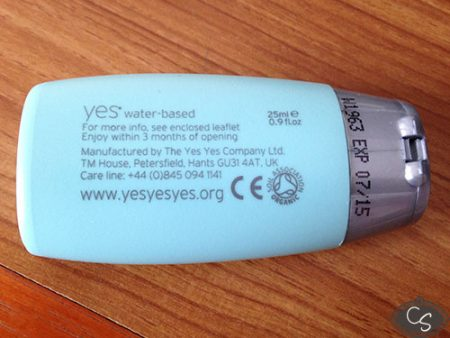 YES Organic Water Based Lubricant Review