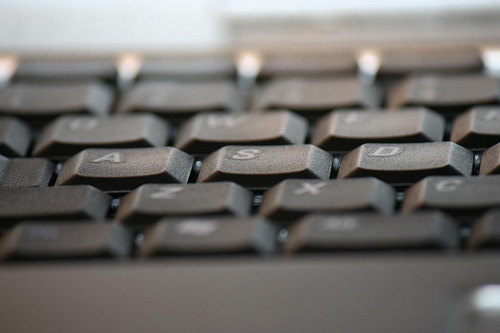 typists writer's keyboard