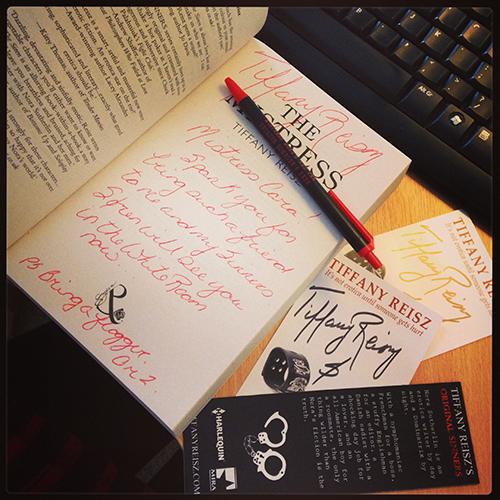 tiffany reisz merchandise & signed book
