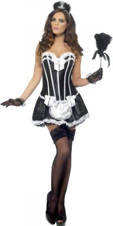 traditional french maid sexy costume lingerie outfit
