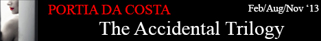 portia da costa accidental trilogy erotic books banner