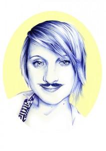 miss k movember portrait - motrait