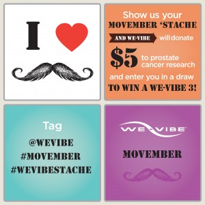 we vibe movember sex toys competition