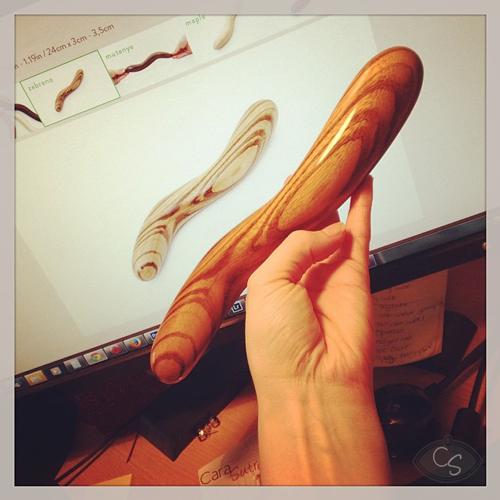 Boa Zebrano dee lee doo wooden dildo review