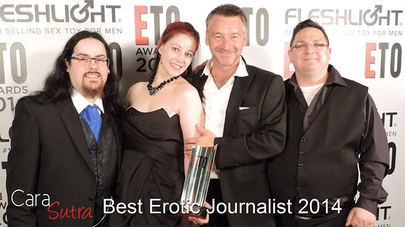 Cara Sutra's Awards ETO Magazine Best Erotic Journalist 2014