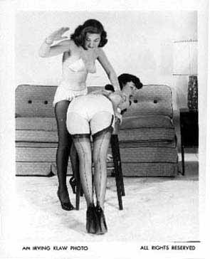 bettie page spanked and bondage in grey
