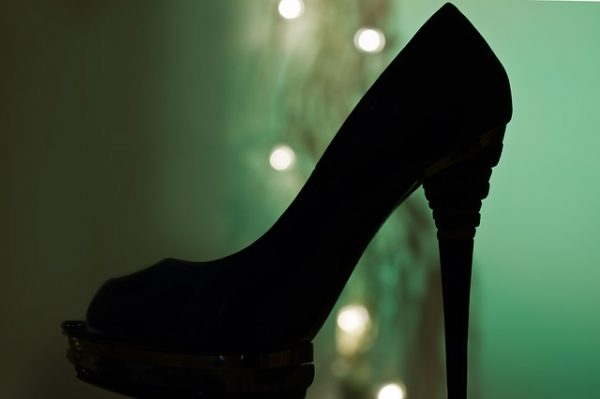 black high heels shoes