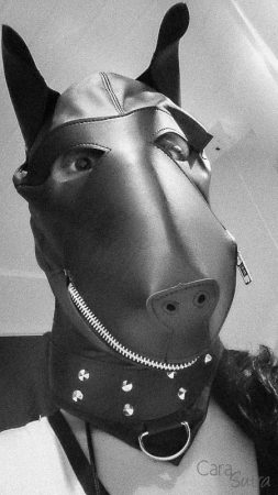 UberKinky Leather Dog Hood Review by Cara Sutra