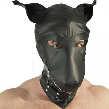 Fetish Collection Leather Dog Hood Review by Cara Sutra