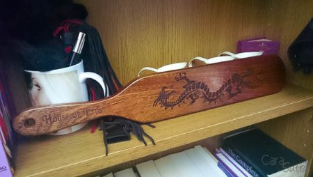 House of Eros Long Wooden Tattoo Dragon Paddle Review by Cara Sutra