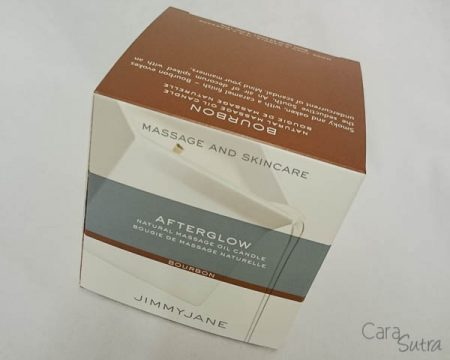 Jimmyjane Afterglow Massage Candle Review Bourbon Scent
