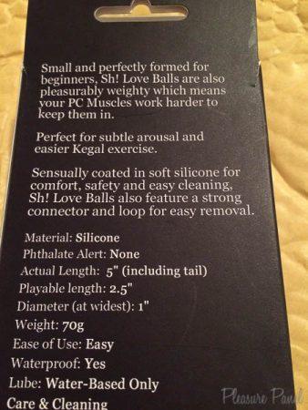 Sh Silicone Love Balls Pleasure Panel Cara Sutra Review-3