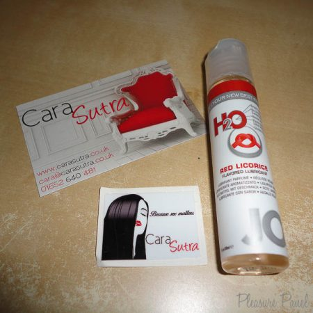 System JO H2O Red Licorice Liquorice Flavoured Lube Cara Sutra Pleasure Panel Review