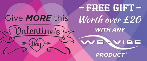 Free gift with we vibe sex toys