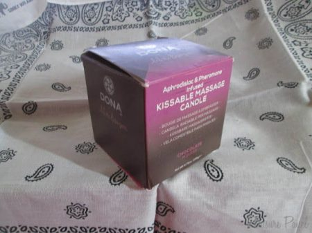 DONA by JO Kissable Massage Candle Chocolate Mousse Review Cara Sutra Pleasure Panel-1