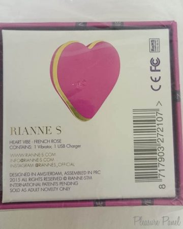 RIANNE-S Heart Vibrator French Rose March 2016 Pleasure Panel Review