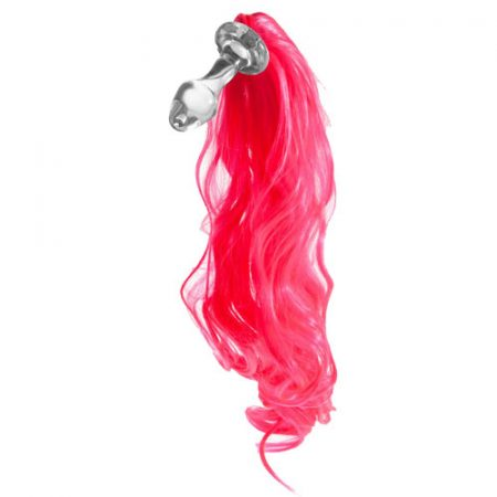 Kinky Tails Pink Pony Tail Glass Butt Plug Review Bondara Official Photo