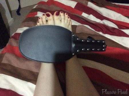 Rimba Leather Spanking Paddle Review Pleasure Panel Cara Sutra-1