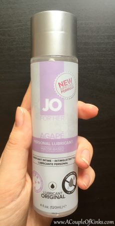 System JO For Her Agapé Water Based Lube Review Pleasure Panel 1