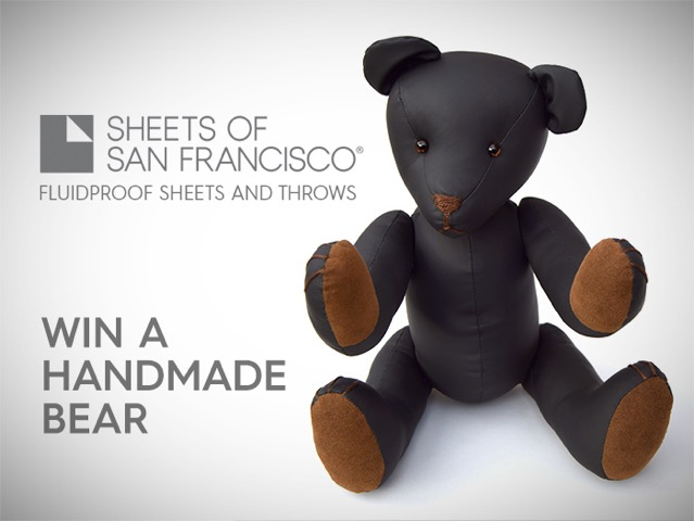 Win the Sheets of San Francisco Teddy Bear Christmas Giveaway 2016
