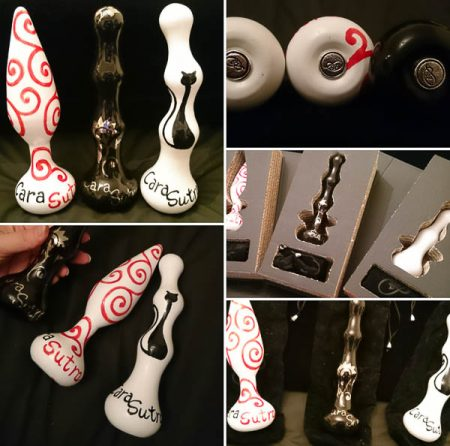 Persian Palm Ceramic Sex Toys Hand Painted Personalised Pleasure Sculptures
