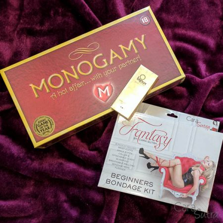 Win a Monogamy Adult Board Game and Fantasy Bondage Kit Bundle Worth £100