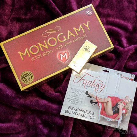 Win the Monogamy Adult Board Game & Fantasy Bondage Kit Bundle