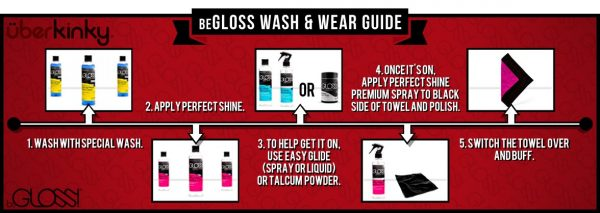 BeGloss Special Wash Latex Cleaner and BeGloss Perfect Shine Latex Shiner Review