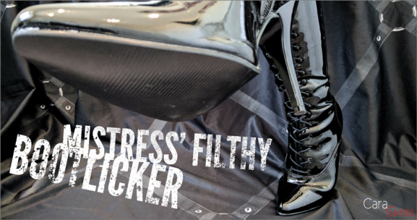 Mistress' Filthy Bootlicker | FemDom Mistress and Slave Sexy Boot Licking Story