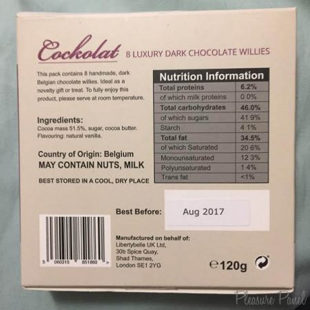 Cockolat Dark Chocolate Willies Box of 8 Review