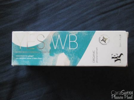 YES WB Organic Water Based Lubricant Review