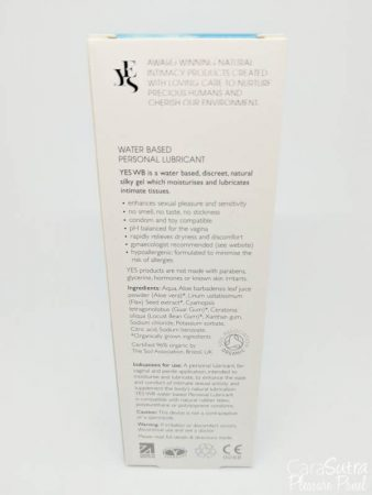 YES WB Organic Water Based Lube Review