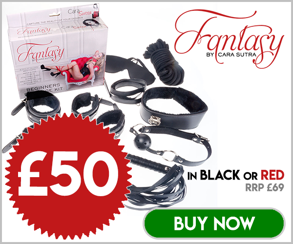 Fantasy by Cara Sutra Bondage Kit Black or Red Sale