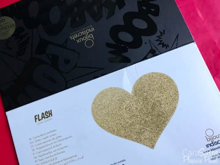 Bijoux Indiscrets Body Decorations Flash Glitter Pasties Review (Gold Hearts)