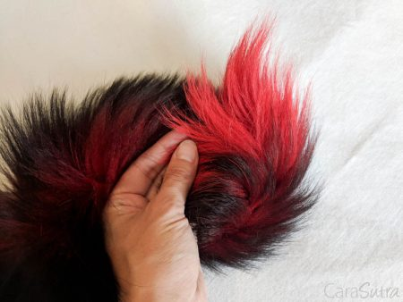 Butt Plug Expert Red and Black Fox Tail Plug Review