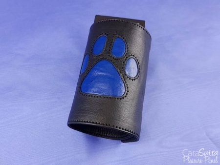 MEO Puppy Play Leather Paw Gauntlet Review Blue Small