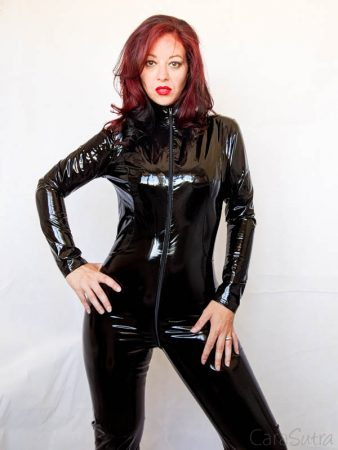 vawn and boon black pvc catsuit review - sexy lingerie