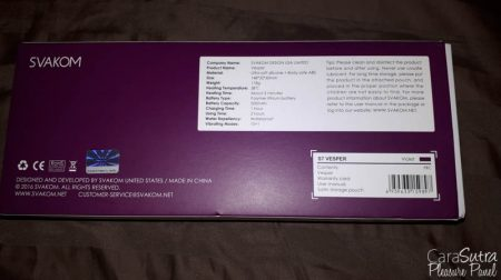 SVAKOM Vesper Dual Stim Warming Vibrator Review