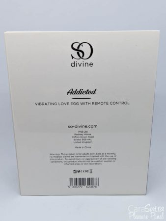 So Divine Addicted Remote Control Vibrating Love Egg Review