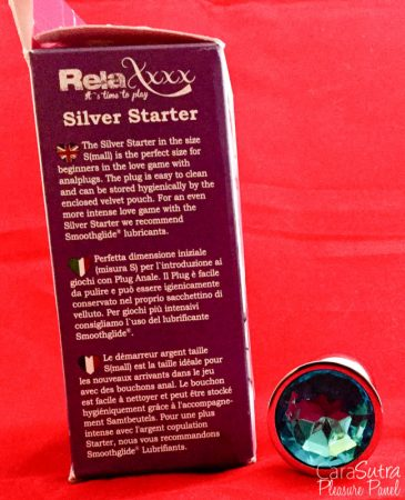 RelaXxxx Silver Starter Blue Butt Plug Review