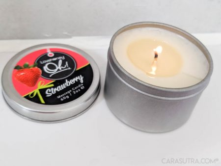 Lovehoney Oh Scented Massage Candles Review - Vanilla Cherry Strawberry