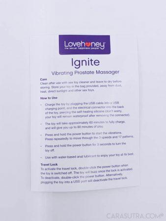 Lovehoney Ignite Vibrating Prostate Massager Review